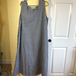 MissLook 4XL gingham NWOT Linen Dress, runs small